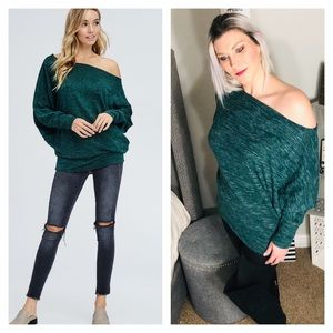 Sweaters - Off Shoulder >>LAST 2, L & XL<< Sweater Top